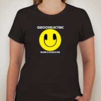groove electric womens fitted shirt black